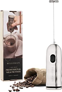 Bellemain Professional Milk Frother 2-Speed Battery Operated Handheld Milk Frother for Latte, Cappuccino,and Bulletproof Coffee
