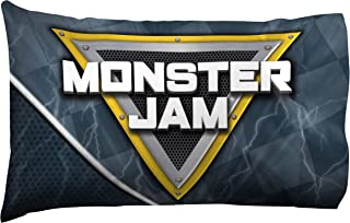 Monster Jam Slash 1 Pack Pillowcase Features Megalodon - Double-Sided Kids Super Soft Bedding (Official Monster Jam Product)