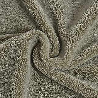 Soft Sherpa Fleece Fabric Lamb Fur Fabric Berber Fleece Fabric Lining Faux Wool Fabric (Light Green, 50CMX50CM)