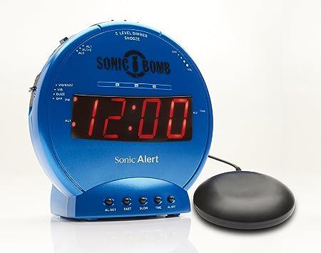 Geemarc Telecom S A Sbb500ssb I Sonic Bomb Vibrationswecker Kunststoff Plastik Metal Blau One Size Küche Haushalt