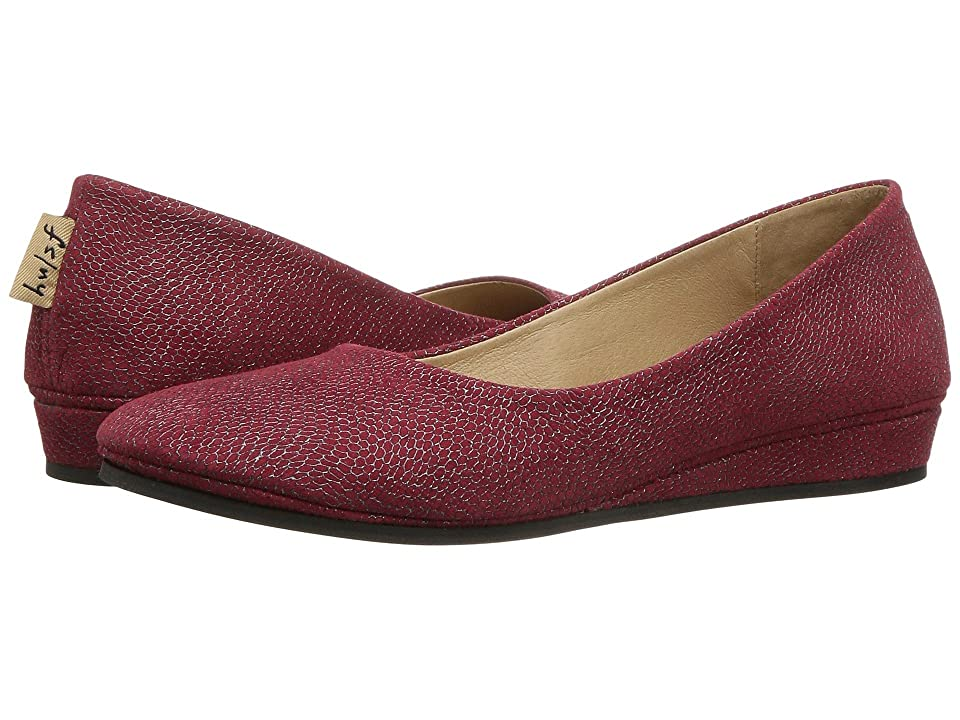 French Sole Zeppa Flat (Red Foil Print) Women