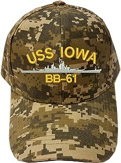 KP USS IOWA BB-61 SHIP Digital Camo Camouflage Military Baseball Cap Hat