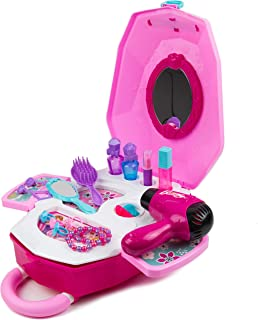 Toytykes 2 in 1 Little Luggage for Little Girls - Best Pretend Play - Easy to Storage - Encourage Your Child`s Imagination Materials - Dream Gift for Girls
