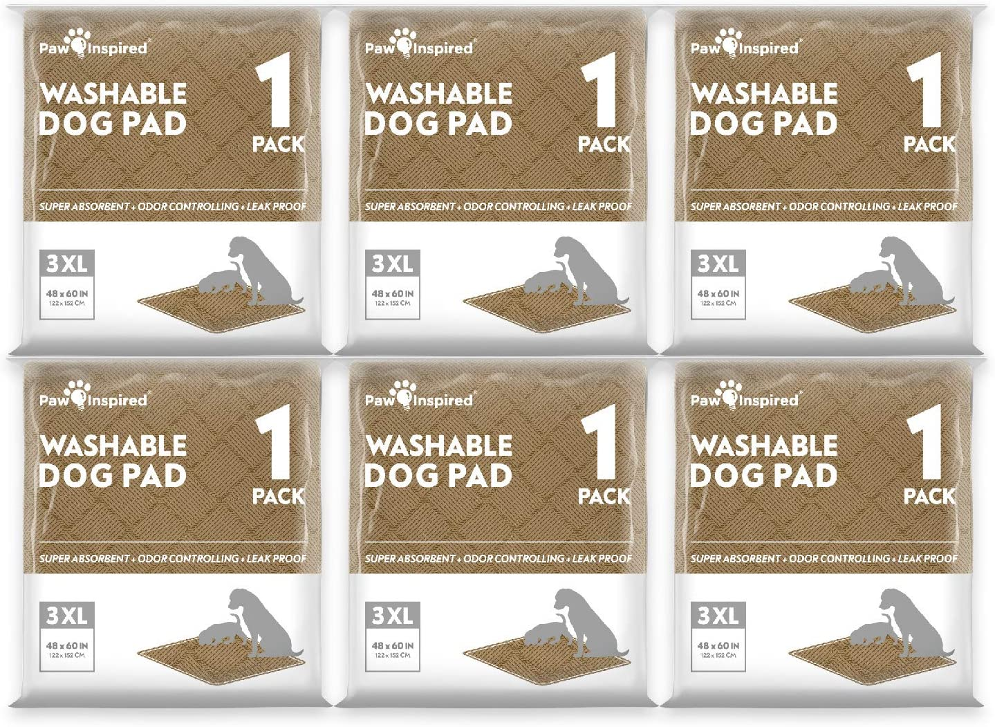 Translated Paw Inspired Washable Pee Pads Puppy Outlet ☆ Free Shipping for Reusable Dogs