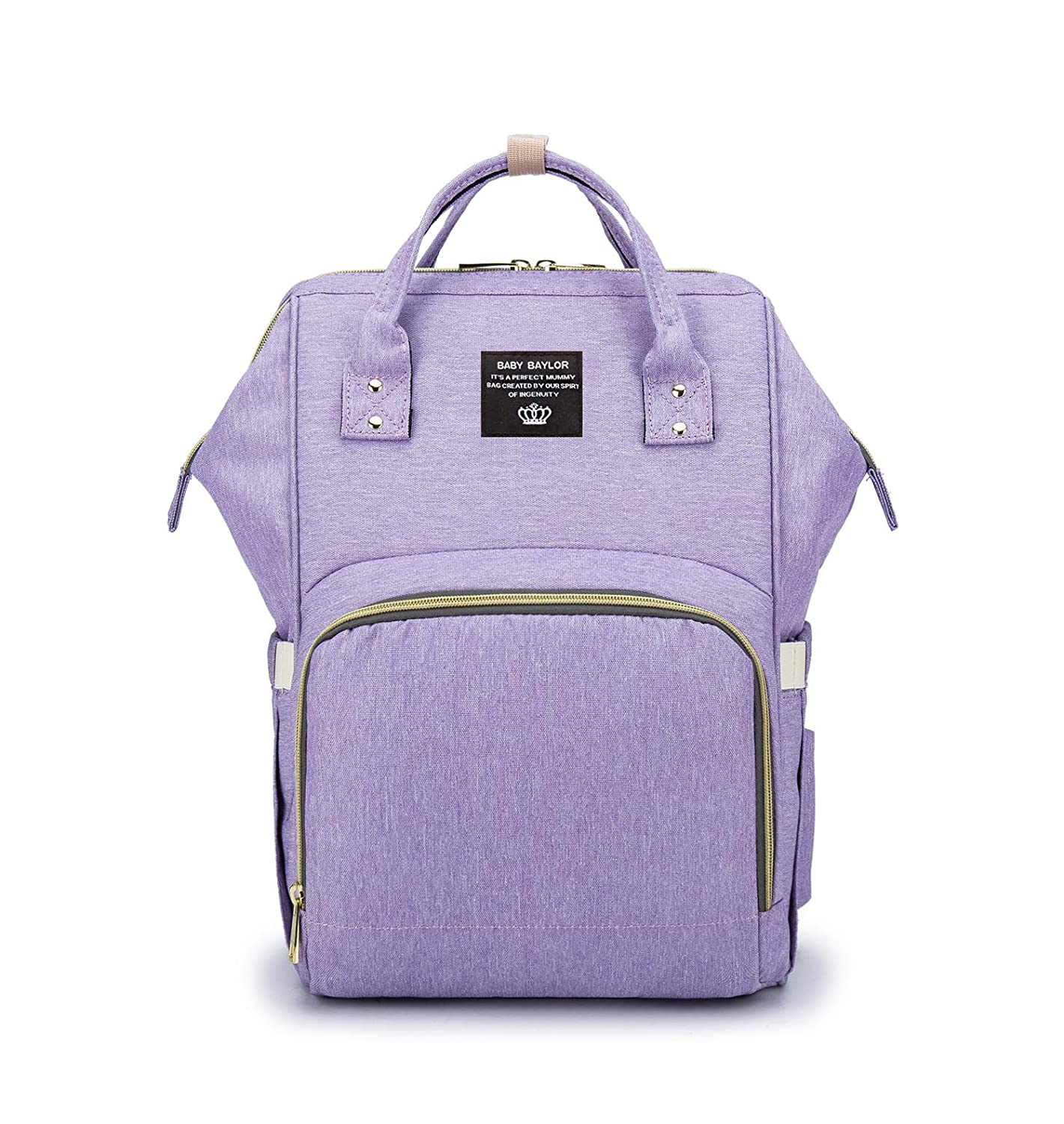 PULUSI 20-35L Diaper Bag Backpack,Multi-Function Oxford Waterproof Maternity Baby Nursing Nappy Back Pack for Mom/Dad on Travel, Large & Stylish & Durable / 16.5x10.2x6.3