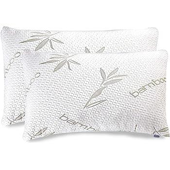 Panda Memory Foam Bamboo Pillow Luxury Shredded Comfort Premium Durable Support