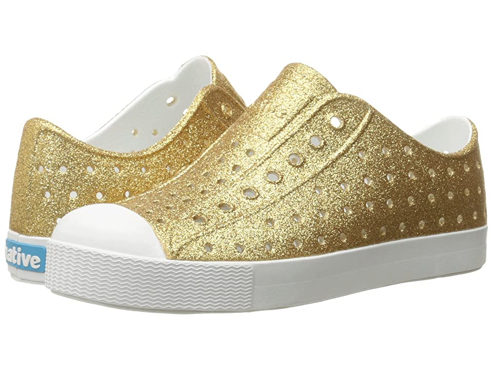Native Kids Shoes Jefferson Bling Glitter (Little Kid) (Gold Bling/Shell White) Girls Shoes