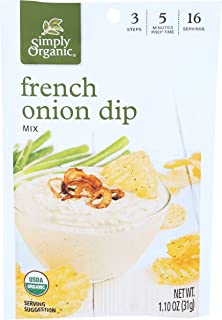 Simply Organic Dip Mix, French Onion, 1.1 oz, (pack of 3)