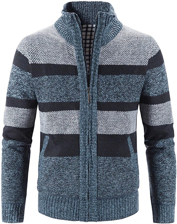 Men Coats Block Stand Discount mail order 35% OFF Collar Cardigan Lo Autumn Warm Knit Jacket