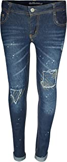 dollhouse Girls' Denim Jeans with Knee Rips