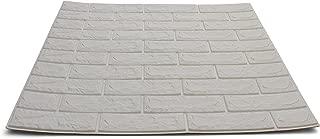 Craft Faux Brick Wall Panels - Peel and Stick Foam Brick - 3D Wall Panels for Fake Brick Wall - Self Adhesive Brick Wall Panels - 3D Brick Wallpaper (4 Pack, White)
