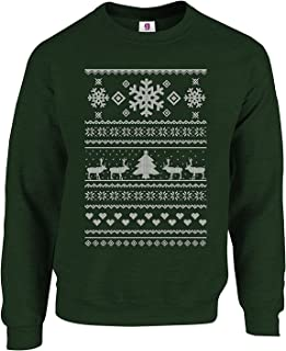 Graphic Impact Christmas Flowers Reindeer Snow Winter Ugly Christmas Jumper - Sweater
