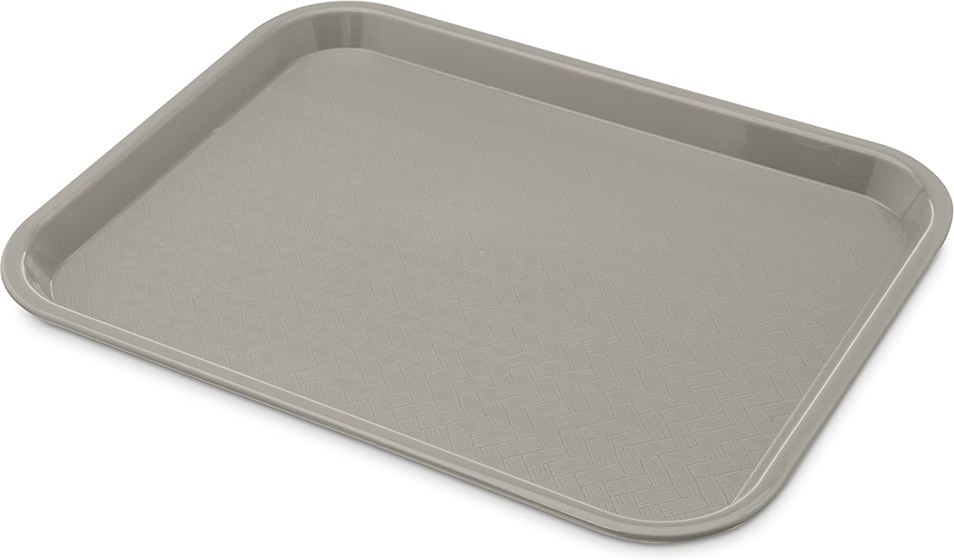 Carlisle CT101423 Caf Standard Cafeteria Fast Food Tray 10 X 14 Gray