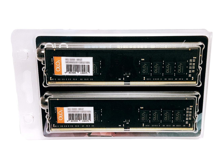 フリル焦がす家事をするOLOy 16GB(8GBx2) DDR4 RAM 2400Mhz C17 アンバッファード DIMM デスクトップメモリーモジュール (MD4U082417BZDB)