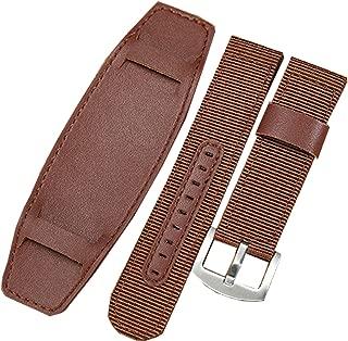 New 20mm 22mm 24mm Brown Military Nylon Canvas Watch Strap Band Bund Strap