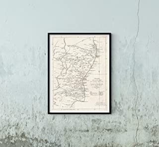 1759 La Rouge of Eastern India or Coromandel (Madras and Pondicherry) Map|Vintage Fine Art Reproduction|Size: 18x24|Ready to Frame