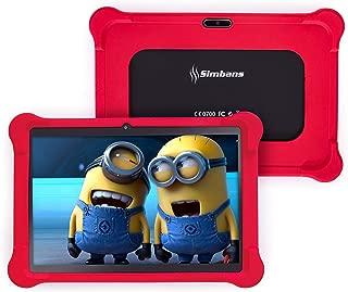 [4 Bonus Item] Simbans TangoTab 10 Inch Kids Tablet with RED Bumper Case   2GB RAM, 32GB Disk, Android 8.1 Oreo   WiFi, USB, HDMI, Bluetooth   2+5 MP Camera Computer PC (2019 Edition)
