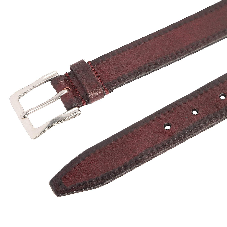 John Varvatos Leather Belts for Men Dress Casual for Jeans