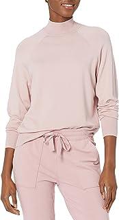 Daily Ritual Suéter elástico de Cuello Redondo Acanalado de Calibre Fino Suéter para Mujer