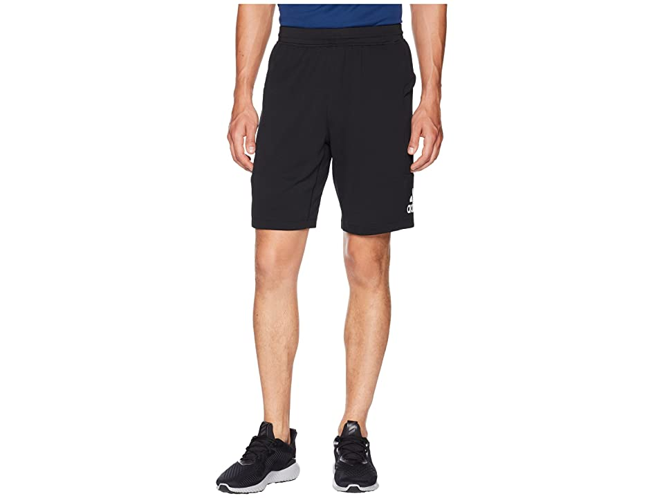 adidas Back To School Training Shorts (Black/Black/White) Men