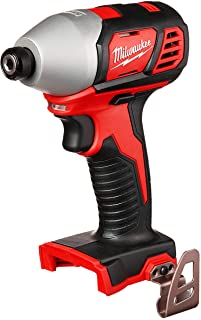 Milwaukee 2656-20 M18 18V 1/4 Inch Lithium Ion Hex Impact Driver with 1,500 Inch Pounds..