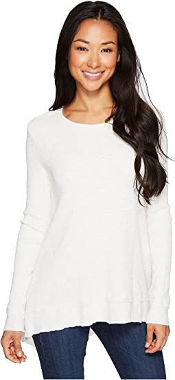 Dylan by True Grit Softest Slub Waffle Asymmetrical Top