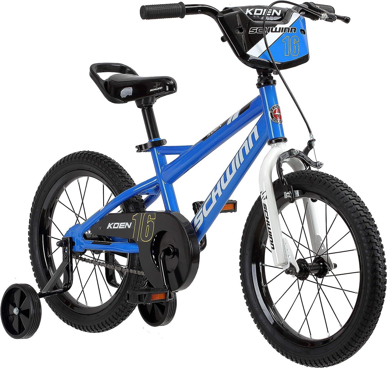 Schwinn Koen Boys Bike for Toddlers and Kids, 16-Inch Wheels, Blue : Everything Else