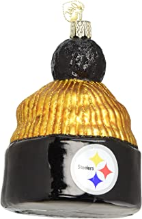 Old World Christmas Glass Blown Ornament Pittsburgh Steelers Beanie