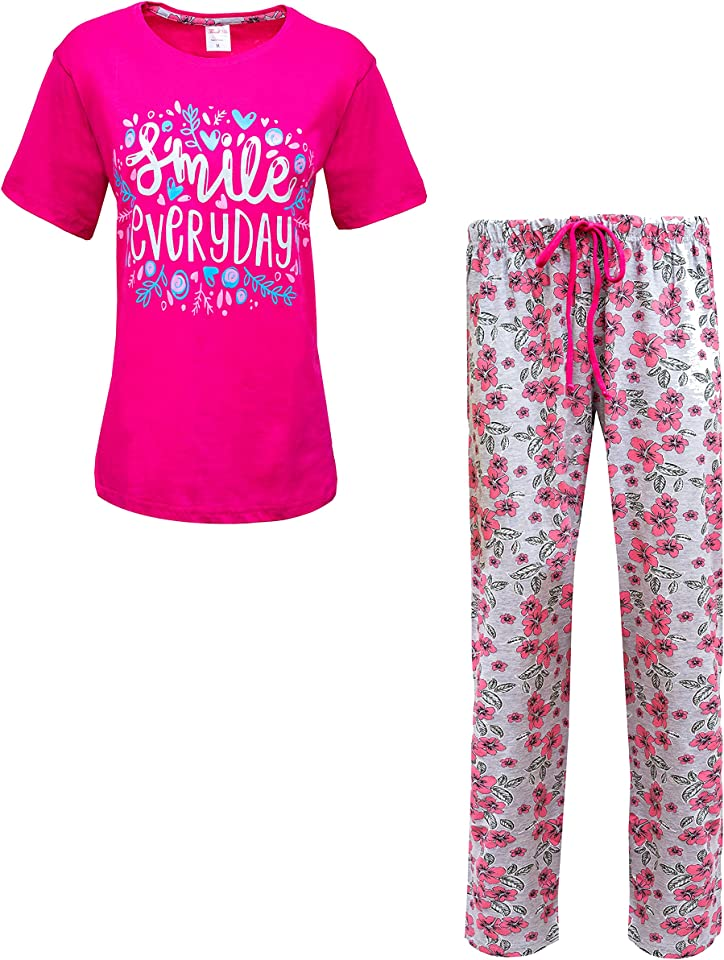 Ladies Pyjamas Set - Cotton Womens Pyjama Sets - Nightwear Pyjamas for Women Sets - Pjs for Women.