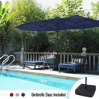 white patio umbrella base