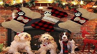 N / A Christmas Stocking Plaid Bone Socks