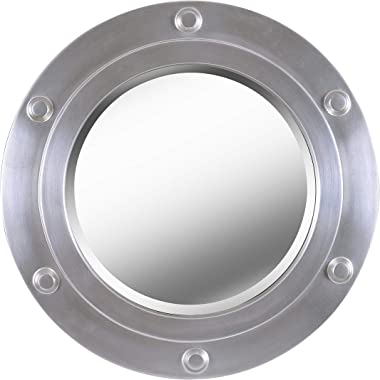 Kenroy Home Portside Mirrors, Small, Weathered Steel Finish