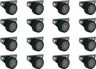 16 stuks 30 mm kastrollers bedladerollen bokwielen zijwielen met sofband
