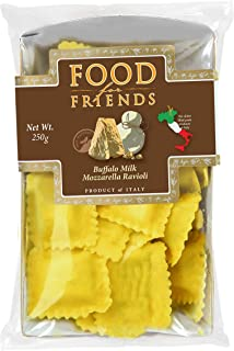 Food For Friends Buffalo Milk Mozzarella Ravioli Pasta - Chilled, 250g