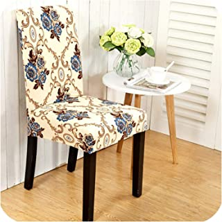 Wenzi-day Flower Leaves Printing Spandex Elastic Chair Protective Slipcover Stretch Dining Chair Seat Cover Case for Banquet Party,6,Universal