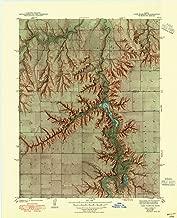 lake shafer fishing map