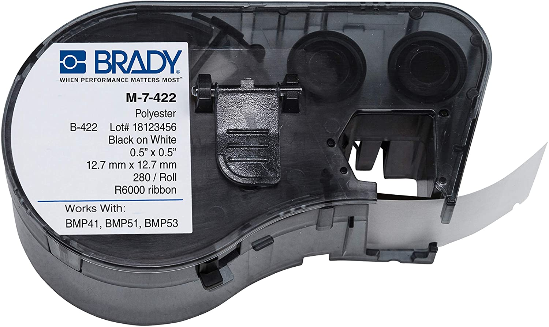 Brady M-7-422 Polyester B-422 Black on White Label Maker Cartrid