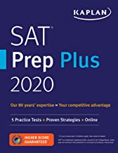 SAT Prep Plus 2021: 5 Practice Tests + Proven Strategies + Online (Kaplan Test Prep)