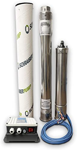 """discount SCHRAIBERPUMP 3"""" SUBMERSIBLE DEEP WELL PUMP 1HP 230v 362FT outlet online sale 17GPM w/control box 2 Year WARRANTY outlet sale - STAINLESS STEEL INCLUDES WIRE SPLICE KIT - model 3752M outlet online sale"""