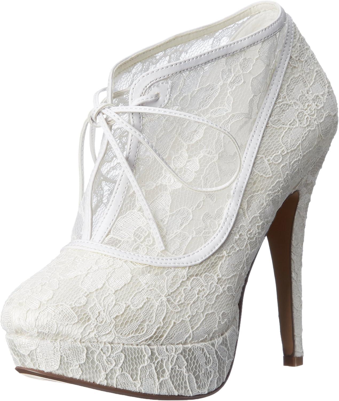 Fabulicious Lolita-32 sexy High Heels Plateau Stiefeletten Stiefelies Satin Champagner Beige mit Spitze 35-41 B00JEY2FA6 | Fein Verarbeitet