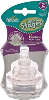 Pampers Silicone Airwave Aspirational Nipples, Stage 2, Twin Pack, Clear