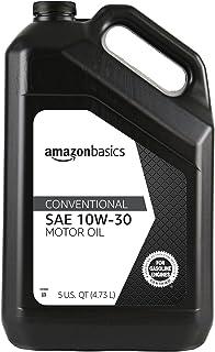 AmazonBasics Conventional Motor Oil - 10W-30 - 5 Quart