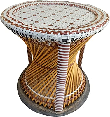 Das Departmental Store's Handicraft Bamboo Made Stools for Rough & Tough use.(Variable Colour)