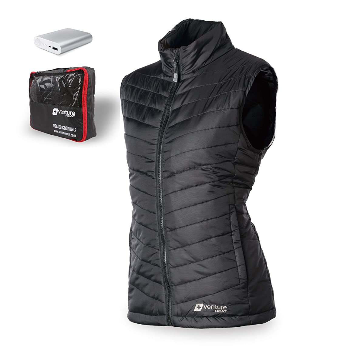 Venture Heat Women's Heated Vest with Battery 12 Hour - The Roam Puffer Heated Vest for Women