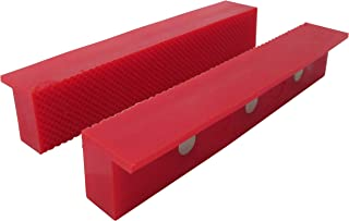 """ION TOOL Universal Soft Vise Jaws, Synthetic Rubber Jaws 6"""" Red"""