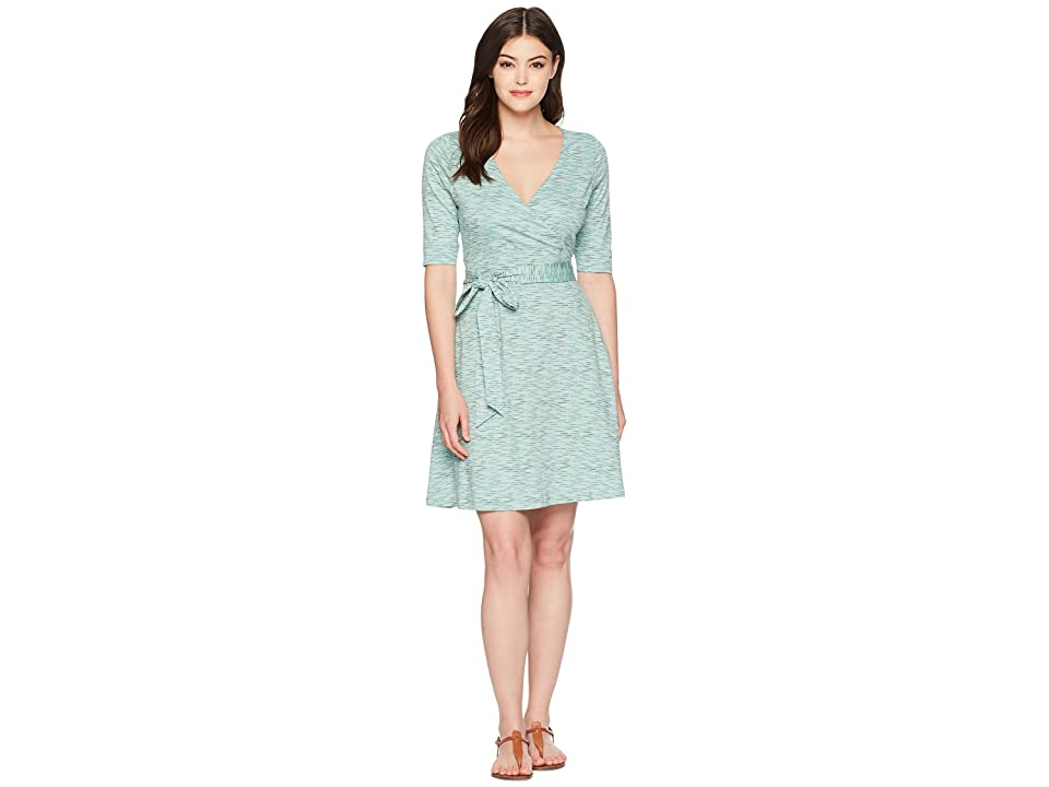 Toad&Co Cue Wrap Cafe Dress (Aquifer Wave Print) Women
