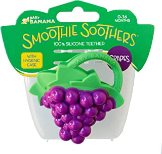 Baby Banana - Grape Smoothie Soother, Toy Teethers and Chew Toys for Teething Infant, Baby, and Toddler