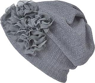 Casualbox Womens Flower Headband Neck Warmer Beanie Hat 3 Way Summer Winter Retro Ladies