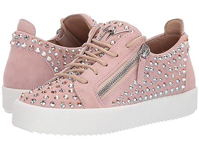 Giuseppe Zanotti Doris Low Jr. All Over Crystal Low Top Sneaker (Camoscio Grace) Women