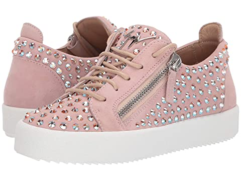 7d2743c8c79f4 Giuseppe Zanotti Doris Low Jr. All Over Crystal Low Top Sneaker at ...